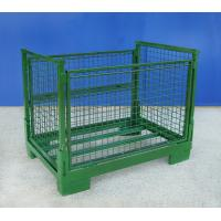 Buy cheap Stackable Steel Collapsible Wire Container Heavy Duty Weatherproof from wholesalers