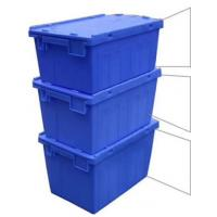 Wholesale Customized Logo Printing Plastic Attached Lid Containers / PP Tote Boxes from china suppliers
