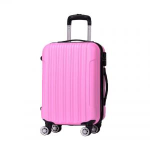 Wholesale 190D Polyester Pink ODM 0.8mm 4 Wheel Trolley Luggage from china suppliers