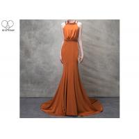 Buy cheap Orange Mermaid Ladies Party Wear Gown Long Tail Blue Beads Hanging Neck from wholesalers