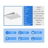 Buy cheap Mirror Effect Square Rain Shower Head , 360 Degree Rotation Waterfall Shower Head from wholesalers
