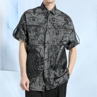 Buy cheap Black Short Sleeve Casual Dress Shirts For Summer OEM ODM Service from wholesalers