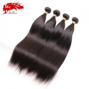 4 Pcs Ali Queen 4pcs Straight Hair 100% Human Hair Bundles Free Shipping