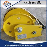 Buy cheap portable manual operated hand winch with brake from wholesalers