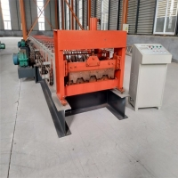 Buy cheap Steel Sheet Making Plc Metal Deck Roll Forming Machine 22KW from wholesalers