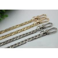 Buy cheap Factory supply 120 mm length gold & nickel color iron metal chain strap bag with snap hooks from wholesalers