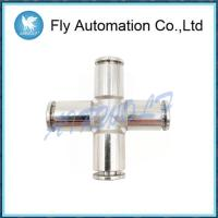 Buy cheap Union Cross Shape Pneumatic Tube Fittings Series 6600 Port Size G1/4 Stainless steel from wholesalers
