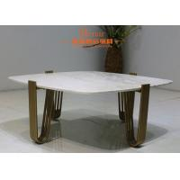 Buy cheap Creative Europe Luxury Living Room Furniture , Stainless Steel Gold Nordic Marble Coffee Table from wholesalers