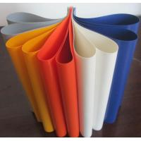 Buy cheap Colorful PVC Coated Tarpaulin Polyester Fabric In Roll 1000D X 1000D 20X20 650 Gsm from wholesalers