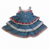 Buy cheap Girls' Skirts with Two Buttons in Front for Easy Dressing from wholesalers
