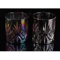 Buy cheap Cylinder Debossed Pineapple Glass Cup , Scented Candle Making Jars from wholesalers
