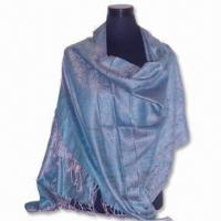 Quality Women's Fashionable Shawl, Made of 45% Viscose and 55% Acrylic for sale