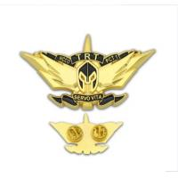 Wholesale Custom Logo Fashion Metal Craft Brass Soft/Hard Enamel Badge Gold Silver Emblem Police Security Lions Flag Military Long from china suppliers