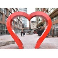 Buy cheap Park Decoration Red Painted Heart Door Stainless Steel Sculpture from wholesalers