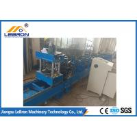 Buy cheap PLC Control Automatic Hydraulic Cut Storage Rack Roll Forming Machine Durable Quality from wholesalers