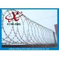 Buy cheap Silver Color Galvanized Razor Wire , Security Razor Wire Cross Razor from wholesalers