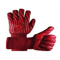 Buy cheap Red Heat Resistant Work Gloves , Aramid Fiber Material Bbq Grill Gloves from wholesalers