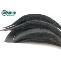 Wholesale Needle Punch Non Woven Sewing Shoulder Pads Black Color Half Moon Shape from china suppliers