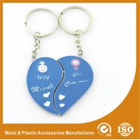 Wholesale Blue Personalized Heart Keychain Custom Metal Keychains For Birthday Keyring from china suppliers