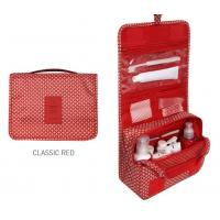 Buy cheap Hanging Red&black Fabric Storage Boxes Collapsible Fabric Storage Bins For Travel from wholesalers