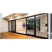Buy cheap Hurricane rated double glazed black color Aluminium Sliding Doors with EPDM gasket For balcony from wholesalers