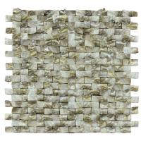 Buy cheap Golden Diamond Shell Mosaic Tile For Bathroom Wall Panels 3D Glossy Surface from wholesalers