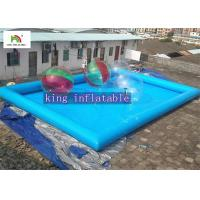 Buy cheap 12 x 8 x 0.65mm PVC tarpaulin Inflatable Swimming Pools unti-ruptured from wholesalers