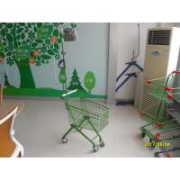 Buy cheap 33 Liter Green Q195 Steel Kids Shopping Carts With Metal Flag Pole from wholesalers