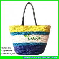 Buy cheap LUDA creative handmade bags cornhusk colorful straw bags from wholesalers