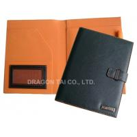 Buy cheap A5 PU leather Portfolios with Pen Holder,A5 Leather File Folder,Rounded Corners from wholesalers