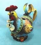 China Collectible cock Ceramic Cookie Jars rooster decorations figurine home decor on sale