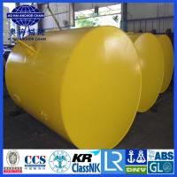 Buy cheap Cylinder steel type Mooring Buoy, Yellow Painted steel structure Mooring Buoy from wholesalers