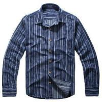 Buy cheap Classical Blue Vertical Stripes Cotton Shirts (LC-666) product
