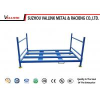 Buy cheap Durable Folding Car Tyre Storage Rack For Garage / Blue Tire Pallet Rack from wholesalers