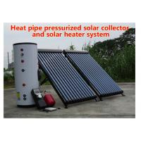 Wholesale 150-500 L Tank Heat Pipe Solar Water Heater Pressurized Solar Collector from china suppliers