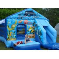 Buy cheap Commercial Clean Soft Blue Seaworld Bouncer Slide Inflatable Combo For Kids from wholesalers