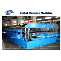 Roof Decking Structural Steel Plate Rollformer Machine With 22KW Main Power Manufactures