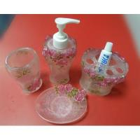 Buy cheap New 4 pcs/set Polyresin bathroom accessories from wholesalers