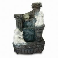 Buy cheap Water Fountain, Made of Polyresin, Measures 23 x 18 x 33cm, Used to Decorate Home and Garden from wholesalers