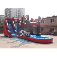 Buy cheap Commercial giant pirate ship inflatable water slide with slip n slide for adults outdoor water park from wholesalers