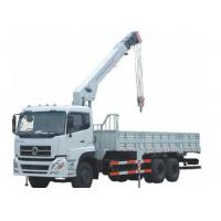 Buy cheap Heavy duty Sinotruck cargo hydraulic truck crane 8 tons knuckle crane from wholesalers