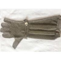 Buy cheap SSchainmail ring mesh cut resistant safety gloves with extended length from wholesalers