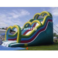 Buy cheap Heart Shaped Door Inflatable Wave Slide , Outdoor Playing Inflatable Kids Slide from wholesalers
