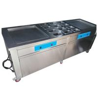 Buy cheap Stainless Steel Thailand Fried Ice Cream Machine With Double Square Pans from wholesalers
