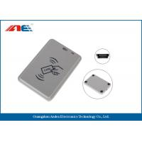 Buy cheap Handy Compact Mifare RFID Reader , Smart Chip Card Reader Writer USB Support Power from wholesalers