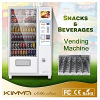 Buy cheap Advertising Screen Combo Vending Machine For Cold Bottled Canned Drinks Mineral Water Snack Food from wholesalers
