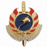 Buy cheap 3-inch High Metal Badge with Stamped Logo from wholesalers