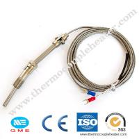 Buy cheap Thread M6 Screw Probe Temperature Sensor K J Type Thermocouple for PID Controller from wholesalers