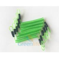 Wholesale 70CM Long Steel Wire Spring Spiral Coil Cable Transparent Green With Double Cord Loops from china suppliers