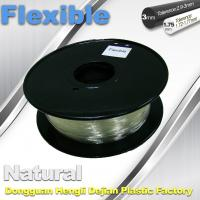 Wholesale Transparent Rubber Flexible 3D Printer Filament Consumables 1.75mm  / 3.0 mm from china suppliers